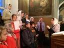 В день вмц. Варвары хор детской воскресной школы пел на Литургии