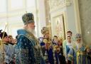 3 декабря Святейший Патриарх Кирилл возглавил всенощное бдение в Князь-Владимирском храме в Лиховом пер.